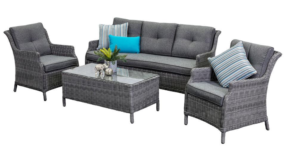 Grigio 3 Seat Sofa Set Outdoor Lounge Segals Outdoor