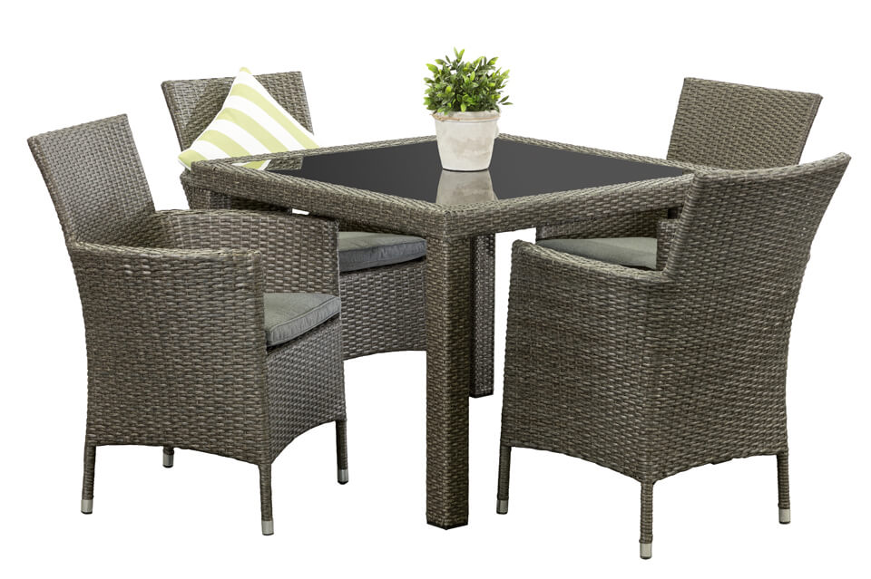 Wicker Outdoor Dining Sets Pacific 4 Seater Segals Outdoor Furniture Perth