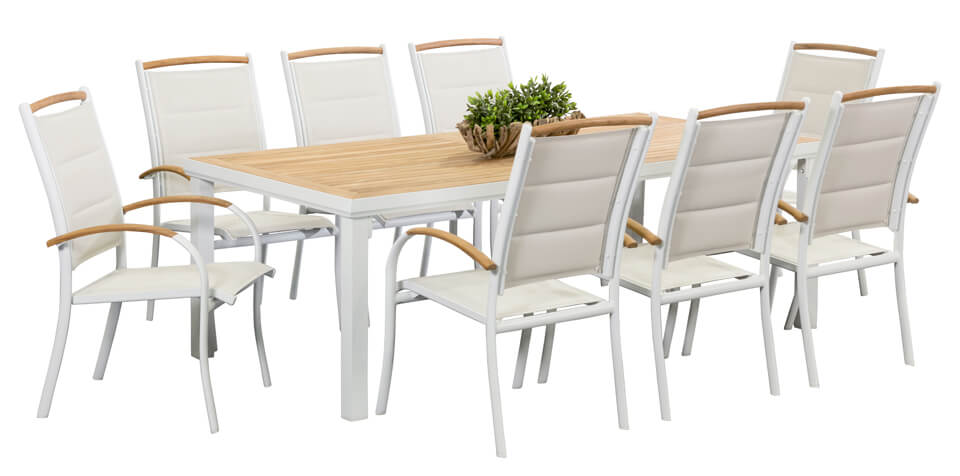 Bar Height Glass Table, Teak Outdoor Dining Sets Timor White 8 Seater Segals Outdoor Furniture Perth
