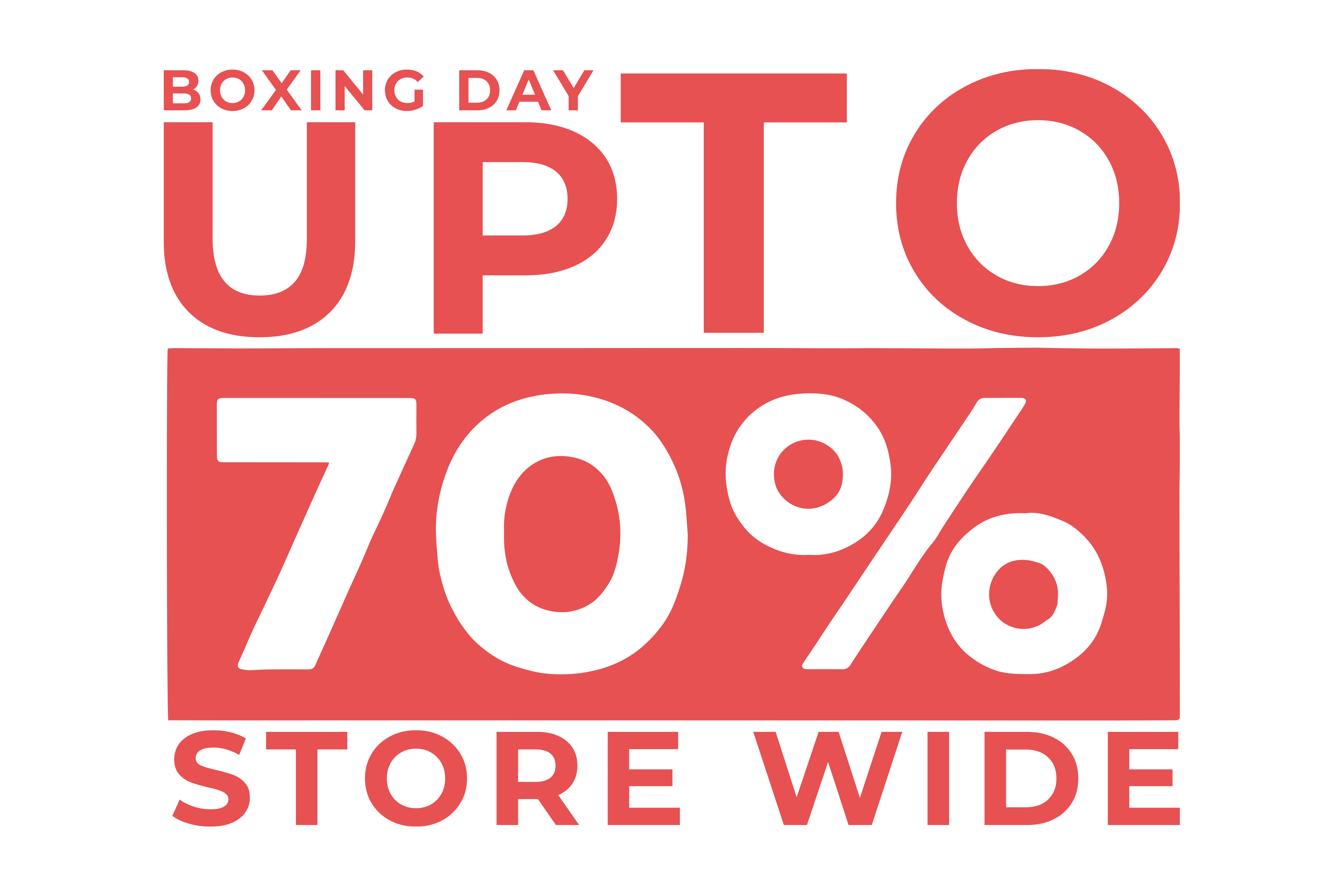 Boxing Day - Up To 70% Off Storewide