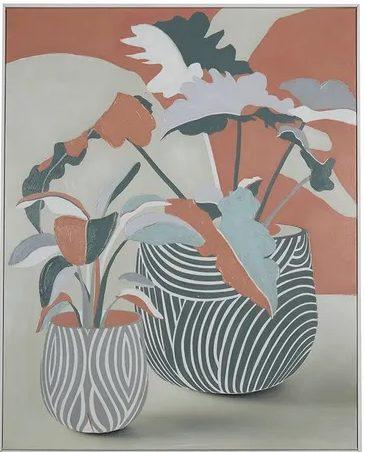 Esme White Frame Oil Painting 80x100cm FP3633